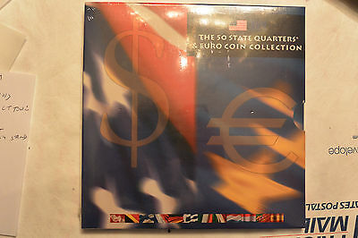 2002 The 50 State Quarters and Euro Coin Collection in US Mint sealed Cellophane