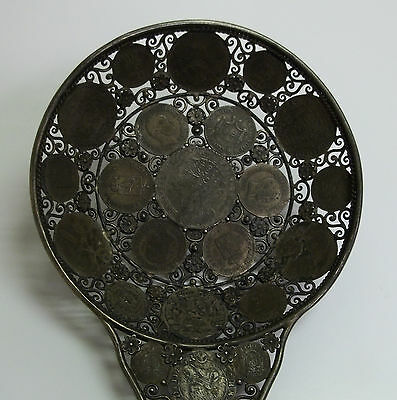 Antique Filigree Ladle Made From Early Silver German Coins (185)