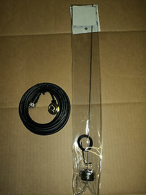 UHF or VHF 1/4 WAVE NMO ANTENNA KIT and 17' ANTENNA CABLE w/ PL-259 BR-pt152