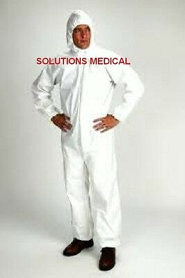 Protective Coveralls Disposable Overalls X 1 White (Xl)
