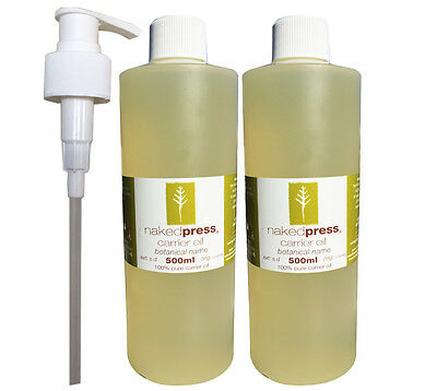 ALMOND SWEET OIL 100% PURE 500ml x 2 +1 PUMP