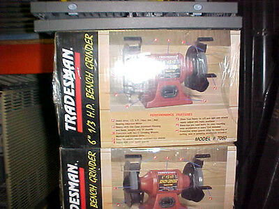"""Tradesman 6"""" Bench Grinder 1/3HP New in the Box Model 7050"""