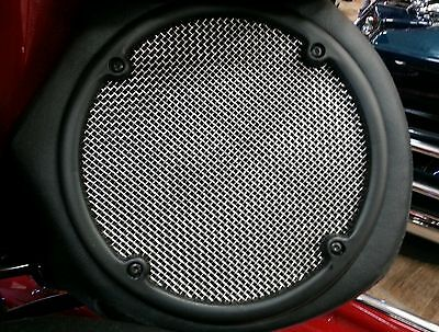 Rear Stainless Speaker Grills Harley Davidson Touring  Ultra Classic-Limited