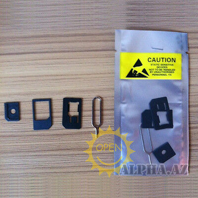 Nano SIM to Micro Regular Full Standard SIM Card Tray Holder Adapter for iPhone