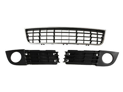 Audi A6 C5 01-04 Front Bumper Air Grille Set Right Left Central Middle New