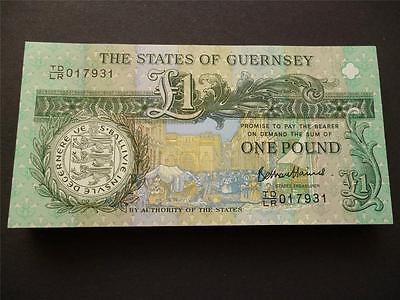Guernsey 2013 Thomas De La Rue One Pound Note Uncirculated £1  Guernsey Banknote