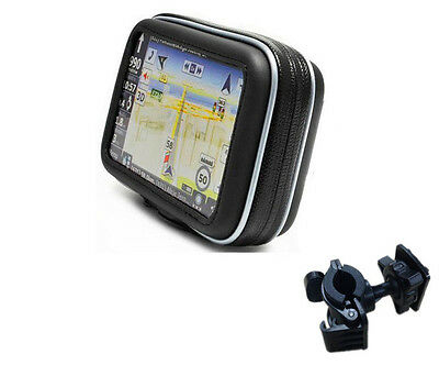 "5.8"" Waterproof GPS Bag with Handlebar Stand Holder for Moto Bike Cycling ATVs"