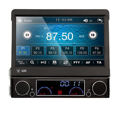 "PO 2Din 7"" Car DVD Player In-Dash Stereo Radio Ipod TV Bluetooth USB SD+Rear Cam"