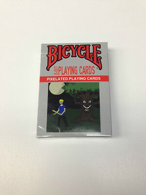 8 Bit Playing Cards Pixelated Black Deck ~ Free Shipping