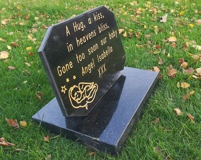 Personalised Granite Memorial Grave Plaque Stone Engraved