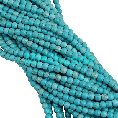Wholesale 100% Natural Turquoise Gemstone Spacer Loose Beads 4 6 8 10 12 14 mm