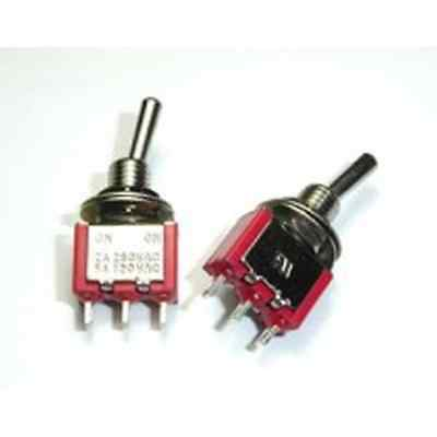 5x 12v On-On Mini Miniature Toggle Switch SPDT
