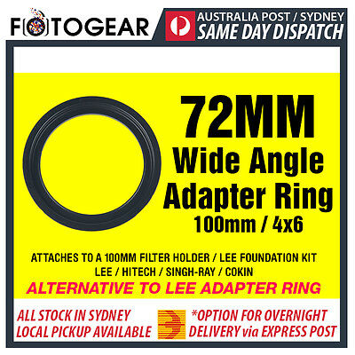 72mm Wide Angle Adapter Ring Metal LEE SINGH-RAY NISI 100mm 4x6