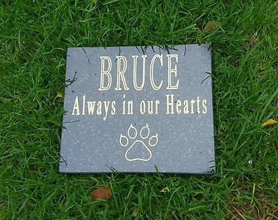Pet  Memorial Personalised Plaque Grave Marker Headstone Granite