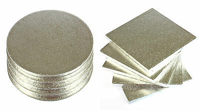 Cake Drums Boards BULK PACK OF 5 BOARDS - Square or Round 12mm Thick by Culpitt