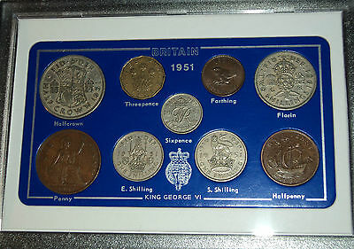 1951 Vintage Rare Penny Coin Set 66th Birthday Present Wedding Anniversary Gift