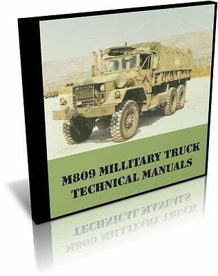 M809 Military Truck Technical Manuals on CD
