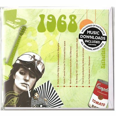 50th golden wedding anniversary gift hit music of 1968 cd and