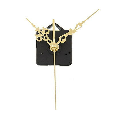 Quality Clock Movement Mechanism Parts DIY Tool Set with Gold Hands Quiet #2