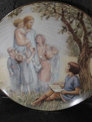 1989 Cicely Mary Barker I LOVE TO HEAR THE STORY  Jesus & Children Ltd Ed Plate