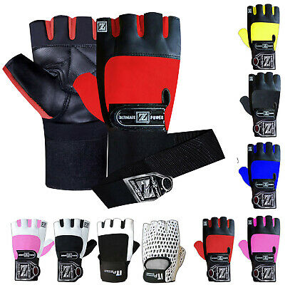 Weight Lifting Gloves Padded Gym Training Straps Body Building Mens & Ladies