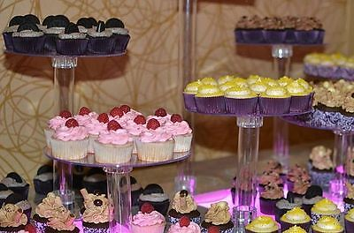 4 Tier Clear Wedding Cupcake Cup Cake Stand Set NEW Wedding Party Decorations