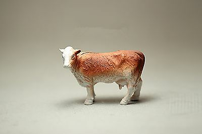 Brown Dairy Cow Cattle Milch Cow Mini Dollhouse Miniatures Animal Model Toy