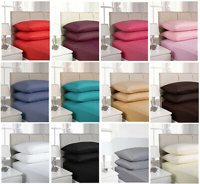 Fusion Soft Touch Fitted Sheets In Single,Double Or King-Pillowcases Available