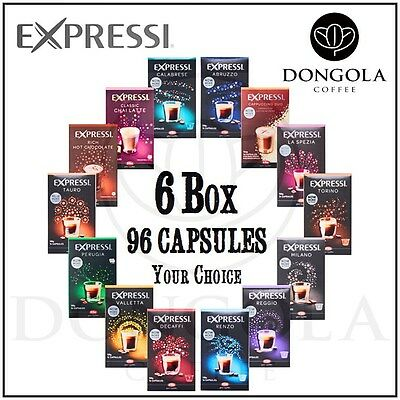 6 BOX (96) You Choose Expressi K-fee Automatic Coffee Machine Capsules Pods ALDI