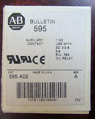 ALLEN BRADLEY 595 A02 Auxiliary Contact Series A