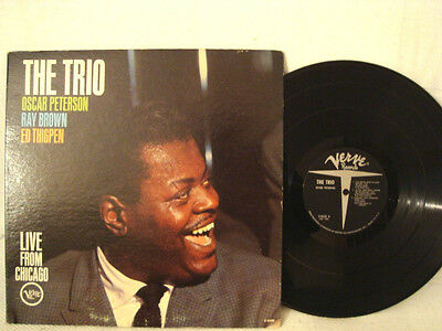 LIVE FROM CHICAGO THE TRIO OSCAR PETERSON RAY BROWN ED THIGPEN VERVE JAZZ