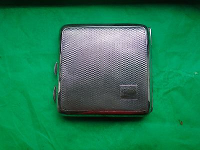 Cigarette Case, Sterling Silver Engine Turn, 1930, Art Deco, Birmingham, Vintage