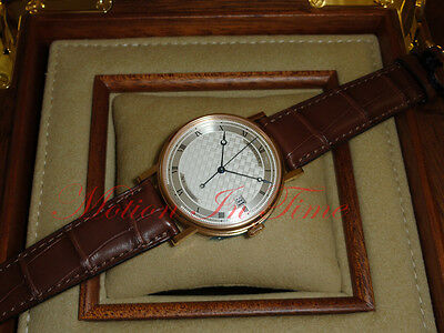 Breguet Classique Automatic 38mm Rose Gold Silver Textured Dial 5177BR/12/9V6