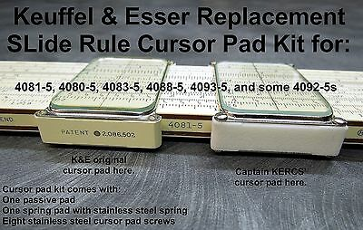 Replacement K&E SLide Rule Cursor Pad Kit for 4081-5 ( IaL )
