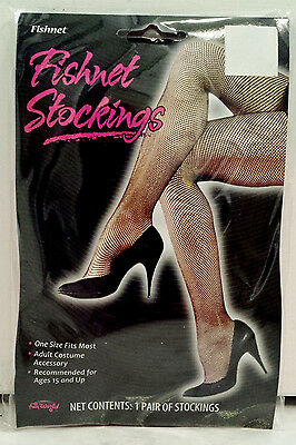 Neon Pink Hot Pink Women's Teens Footed Fishnet Stocking Tights One Size