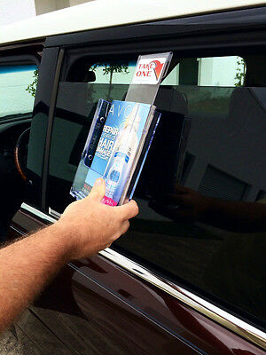 "VEHICLE WINDOW BROCHURE HOLDER FITS 6"" WIDE BI-FOLD for AVON CATALOGS"