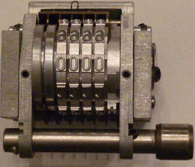 """(I)-Roberts Offset Number Machine New 4 Digit Gothic 9/64"""" Characters, 22.263"""" C"""