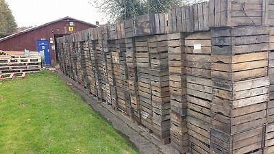 "Graded Second - Vintage ""Pre War"" French Wooden Farm Apple Crate Bushell Box ///"