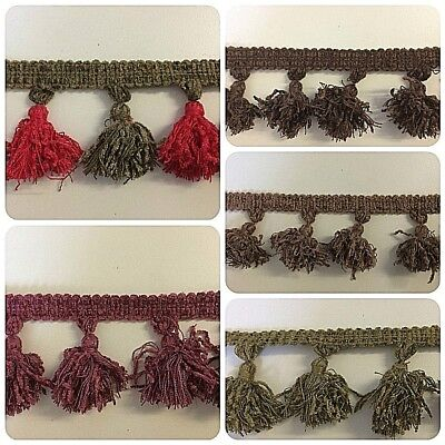 Premium Quality Long Tassel Fringe & Decorative Braid Furnishing Trimming £4.99m