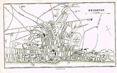 """Bartholomew Town Plan Map - """"LEEDS"""" - Published by A. & C. Black - 1869"""