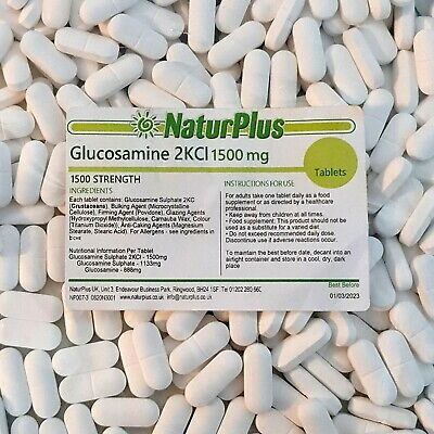 Glucosamine Sulphate 2KCL 1500mg (365 tablets) One Years Supply - NaturPlus