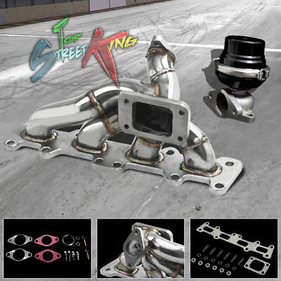 STAINLESS T3/T4 TURBO MANIFOLD EXHAUST+38MM WASTEGATE 03-05 DODGE NEON SRT4 2.4
