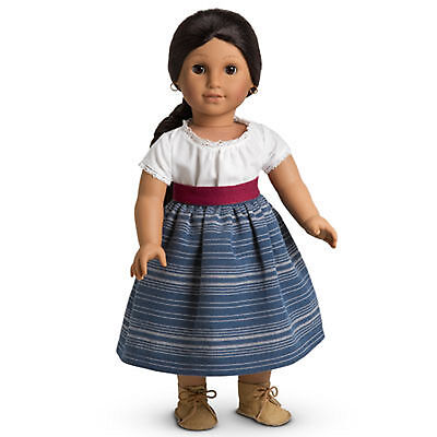 American Girl JOSEFINA SCHOOL OUTFIT for Dolls Indigo Skirt & Camisa Sash NEW