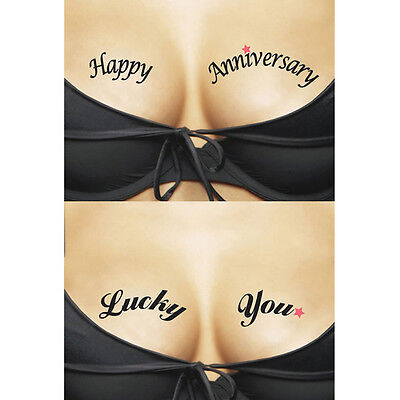 Tatouages temporaires Happy anniversary Lucky You - Tattoos - lingerie