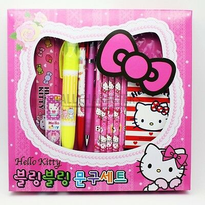 Sanrio Hello Kitty Bow Face Stationery Gift Set (Pink)