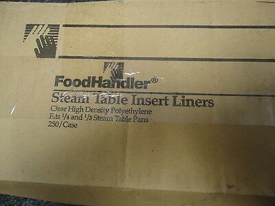 """Case of 250 Foodhandler Steam Table Insert Liners 1/4 & 1/3 - 18"""" x 14"""""""