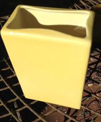 "8"" Hyalyn Yellow Cubist Mid-Century Yellow Vase, Vintage. NC Pottery"