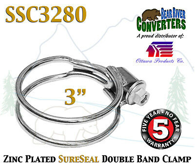 """3"""" SureSeal Heavy Duty Stainless Double Band Exhaust Clamp SSC3280"""