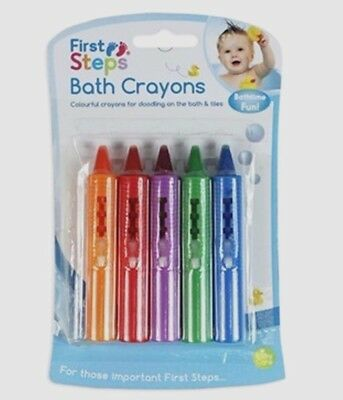 Children Toddler 5 Pack Baby Bath Crayons Non Toxic Bathtime Education Fun Toy