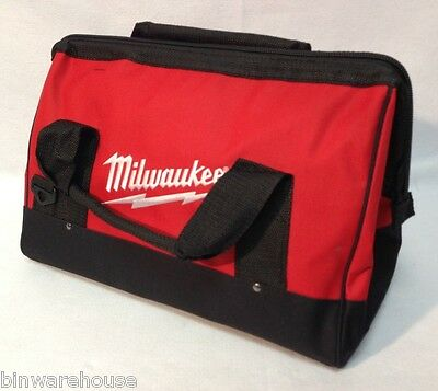 """Milwaukee M12 M18 Tool Bag 16"""" Contractor Bag Super Heavy Duty Canvas Tote New"""